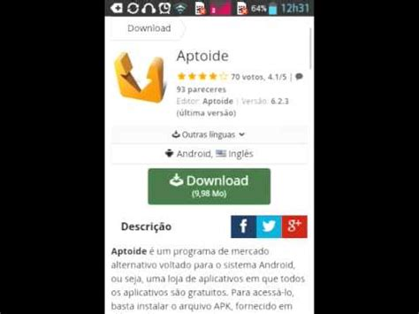 aptoide youtube como baixar aptoide like youtube