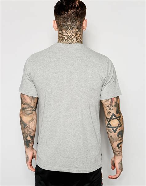 Cressida Shirt Chest Panel Grey ellesse t shirt with small chest logo in gray for lyst