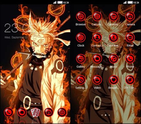Themes Naruto Untuk Hp | kumpulan tema naruto untuk android terkeren