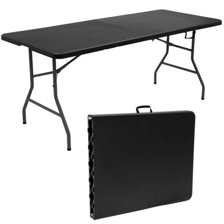 folding table 6 portable plastic goplus 6 folding table portable plastic picnic
