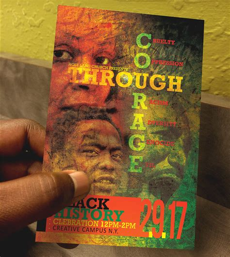 flyer design history black history courage flyer template flyer templates on