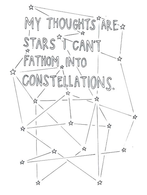 word constellations books my thoughts are i can t fathom into constellations