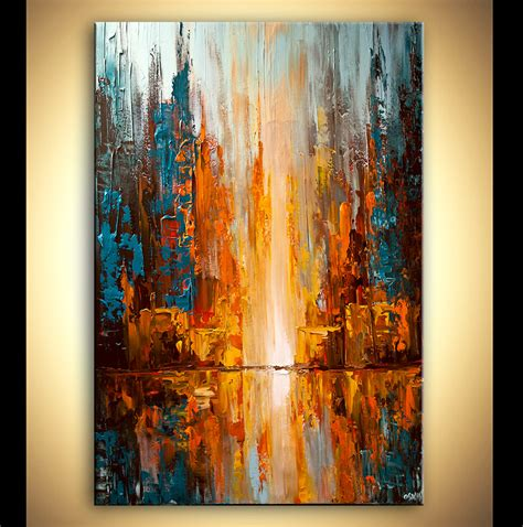 modern paint painting colorful city lights abstract painting palette