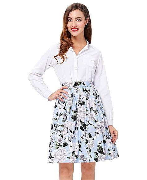 emily swing emily floral swing skirt 1950sglam