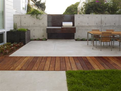 Modern Concrete Patio Designs Design Dilemma Ideal Settings For Your Barbecue Grill Home Design Find