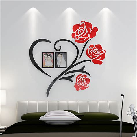 wall decor stickers cheap aliexpress buy flowers frame painting 3d
