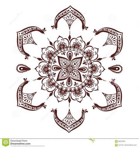henna tattoo template henna mehndi flower template vector illustration