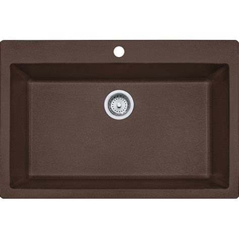 Franke Granite Kitchen Sinks Franke Dig61091 Moc Primo 33 Inch Dual Mount Single Bowl Granite Kitchen Sink In Mocha Dig61091