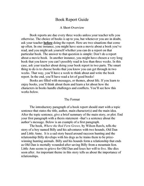 how to write a book report college level example How to write a book report at a college level part of the series: writing & education to write a book report at the college level, be sure to understand th.