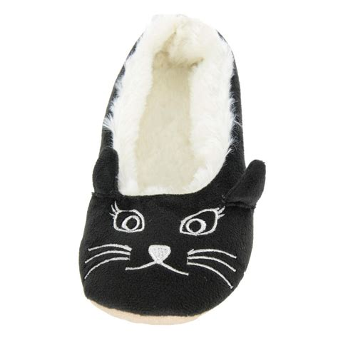slippers for cats cat ballet slippers with faux fur lining black or pink