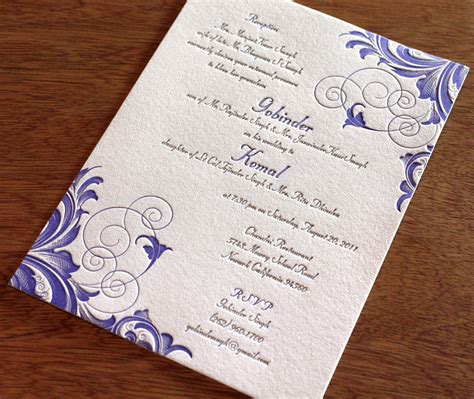 4 new indian wedding card designs letterpress foil blind impression and colors letterpress