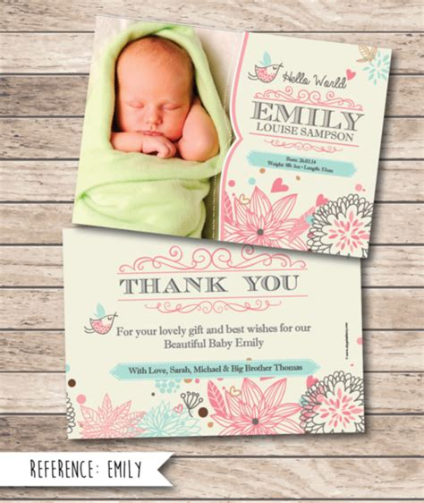 printable baby gift thank you cards cityprint print design wedding invitations memoriam cards