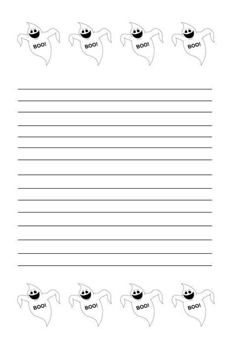 ghost writing paper themed ghost writing paper for school
