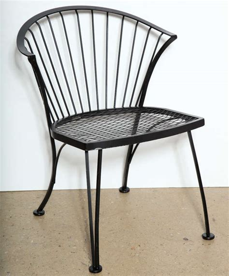 Set Of 4 Russell Woodard Wrought Iron Chairs At 1stdibs Woodard Wrought Iron Patio Furniture