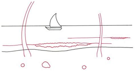 how to draw a boat using shapes how to draw a tropical beach scene howstuffworks