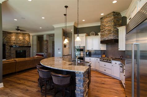 custom home bay contemporary kitchen other