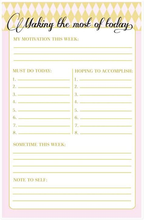 printable daily planners   lists