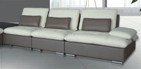 Taupe Leather Sectional by 8060 Sectional Sofa White Taupe Bonded Leather By American