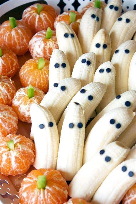 halloween treats tangerine pumpkins banana ghosts recipe banana