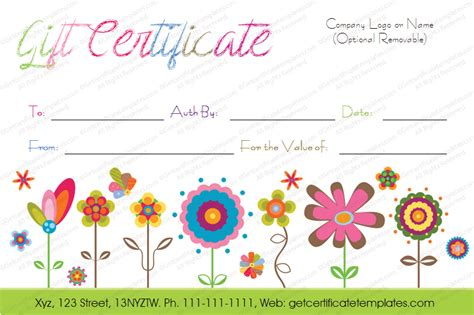 flower gift card template 20 awesome gift certificate templates to end 2017