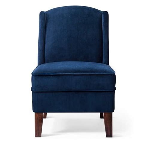 blue velvet wingback chair threshold modified wingback chair in blue