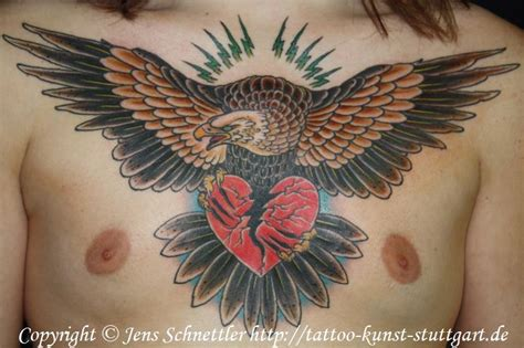 eagle tattoo heart 40 old school eagle tattoos