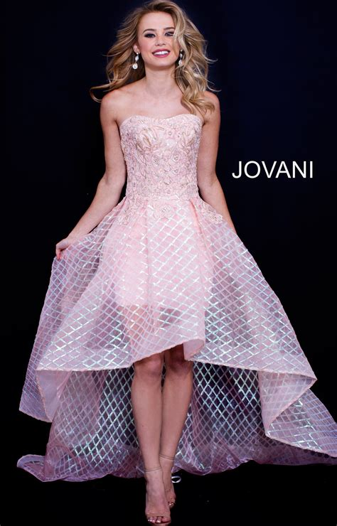 jovani  tulle high  floral sequin prom dress