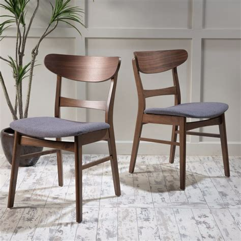 Modern Wood Dining Chair Helen Mid Century Modern Dining Chair Set Of 2 Ebay