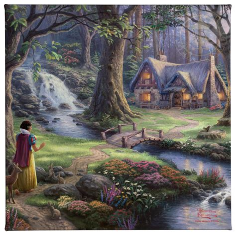 Snow White Discovers The Cottage by Snow White Discovers The Cottage 14 X 14 Gallery