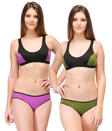 Br003 Sport Bra Set Lingeri Murah urbaano serena sports set green purple snapdeal price sleepwear deals at snapdeal