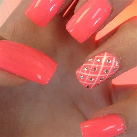 coral color nails coral with accent nail the color don t care much