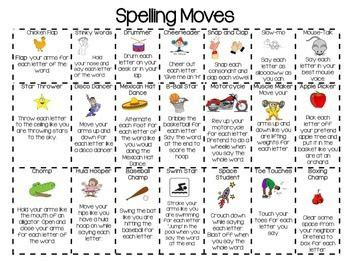 by teacher loves teaching get up and moving while practicing your weekly spelling words