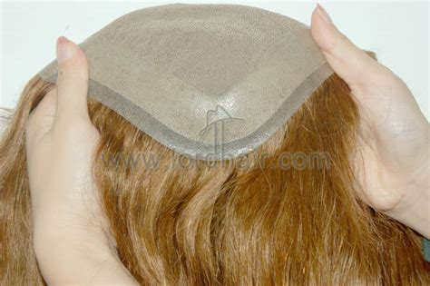 hair replacement system realistic easy wear single knot hair systems for men