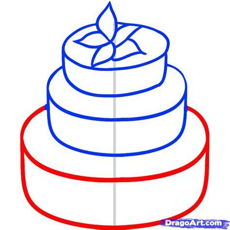 How to Draw a Wedding Cake, Step by Step, Food, Pop
