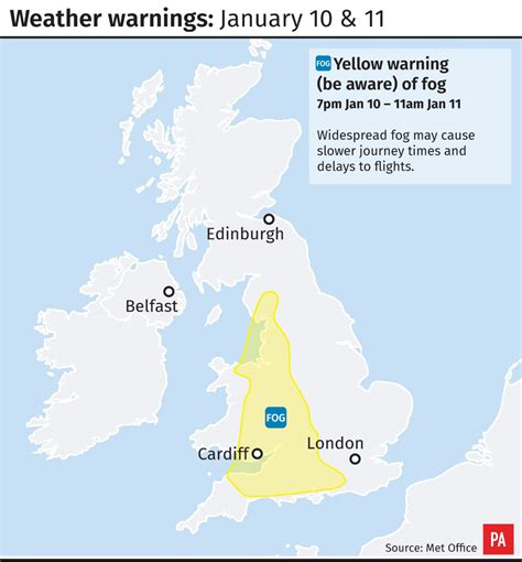areas of fog books in graphics heavy fog weather warning for parts of uk