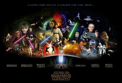 film bioskop terbaru star wars star wars episodes 1 6 movie poster skywalker solo vader