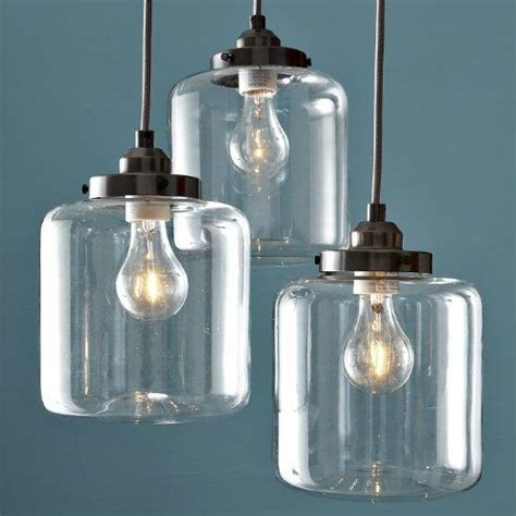 163 165 Amazon Unitary Vintage Clear Glass Shade Mason Jar Jar Pendant Lights