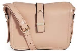 Beige Plain Cross Bag connection notgoogle plain buckle crossbody bag
