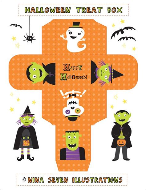 printable halloween recipes nina seven free printable halloween treat boxes