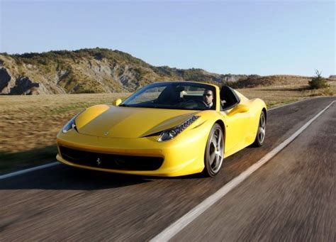 Ferrari 458 Spider Yellow by Ferrari 458 Spider Yellow Colour Car Pictures Images