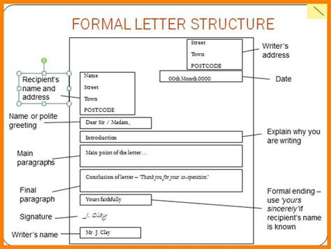 describe the structural layout of a business letter 8 structure of formal letter sales resumed