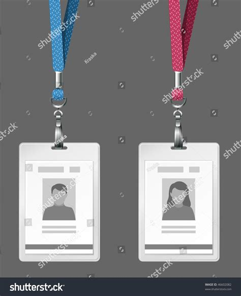 free id card template vector vector identification cards template stock vector 46602082