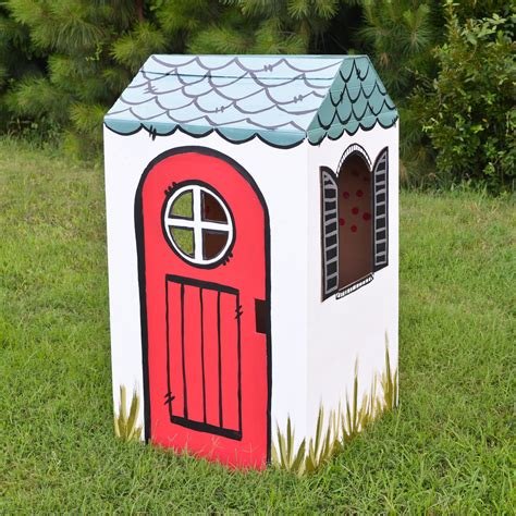 16 Diy Cardboard Playhouses Guide Patterns Cardboard Cottage Playhouse
