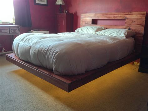 floating bed frame 21 diy bed frames to give yourself the restful spot of