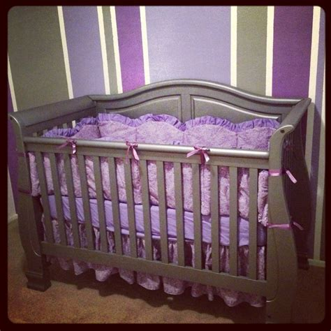 Purple Paisley Crib Bedding Baby S Nursery Purple Gray And Paisley And Absolutely Adorable All The Bedding Was