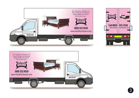 van graphics design vehicle graphics livery designs for island furniture co
