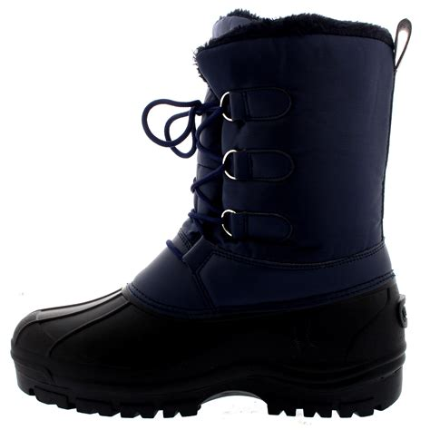 casual mens winter boots mens muck lace up snow casual duck warm