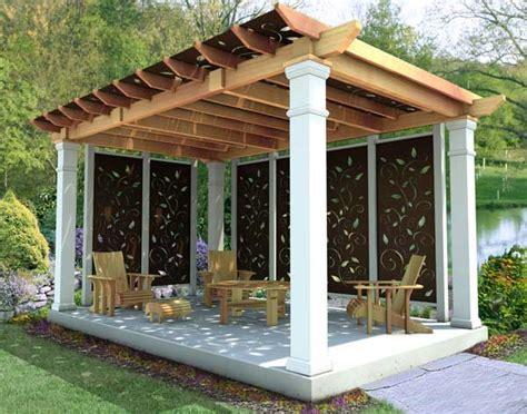 Holz Pavillon 4x3 by Cut Cedar Oasis Free Standing Pergolas Pergolas By
