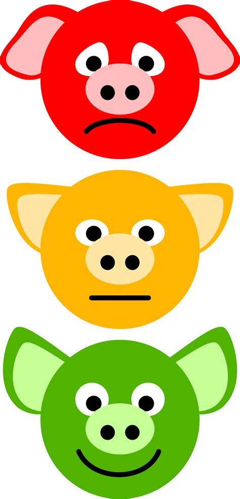 %name Colored Lights   Clipart   Pig Traffic Lights