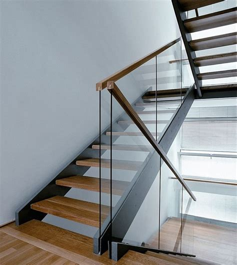 office stairs design image detail for glass usage modern stair railing